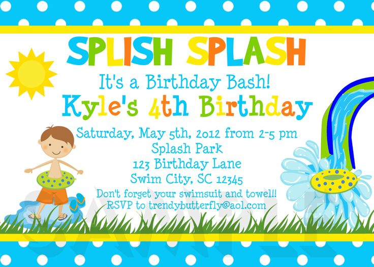 4th birthday invitation wording boy ; b8fcb233349e96dbd10c60842dc4358b--boy-pool-parties-summer-birthday-parties