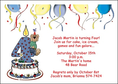 4th birthday invitation wording boy ; boy-4th-birthday-invitation_91383