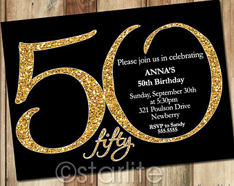 50 Years Birthday Invitation Card 50Th Invitations Is A