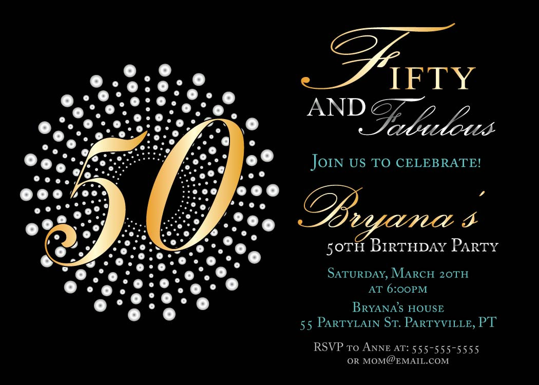 50 years birthday invitation card ; Attractive-50Th-Birthday-Invitations-For-Additional-Free-Printable-Birthday-Party-Invitations