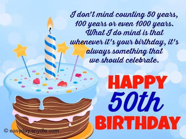 50 years message birthday ; 2c0a4625dc0d9633e5979898caeedfca