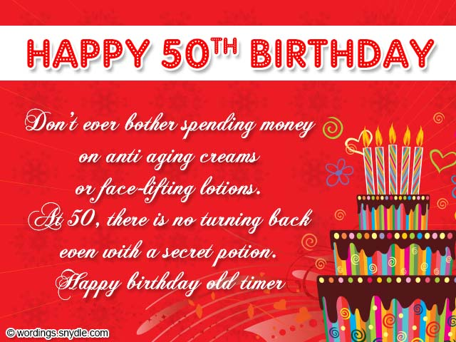 50 years message birthday ; 50th-birthday-card-wordings