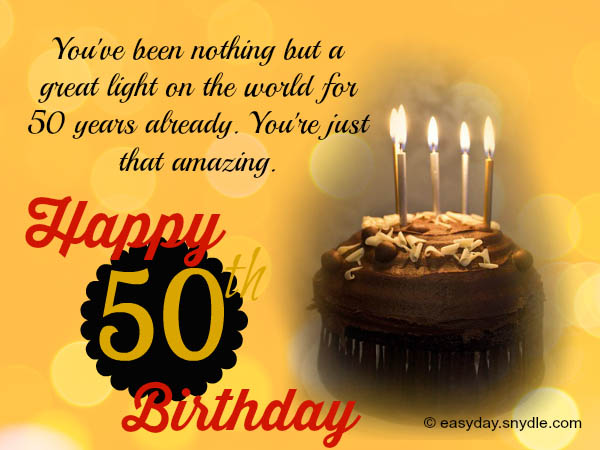 50 years message birthday ; 50th-birthday-messages