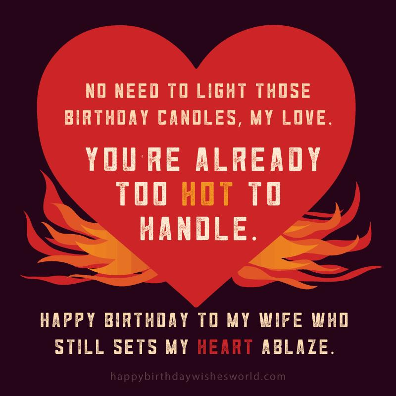 50th birthday message for wife ; Birthday-wishes-for-your-wife-Too-hot-to-handle