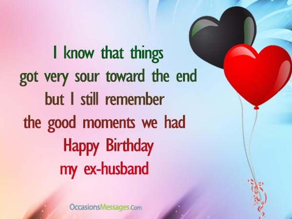 50th birthday message to husband ; Birthday-wishes-for-Ex-Husband