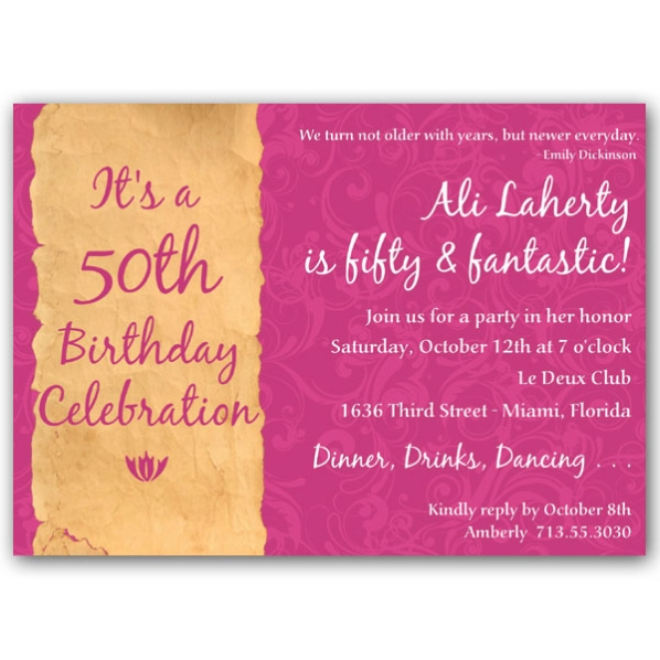 50th birthday party invitation wording ideas ; 50th-birthday-invitation-wording-and-adorable-arrangement-of-position-invitation-design-12