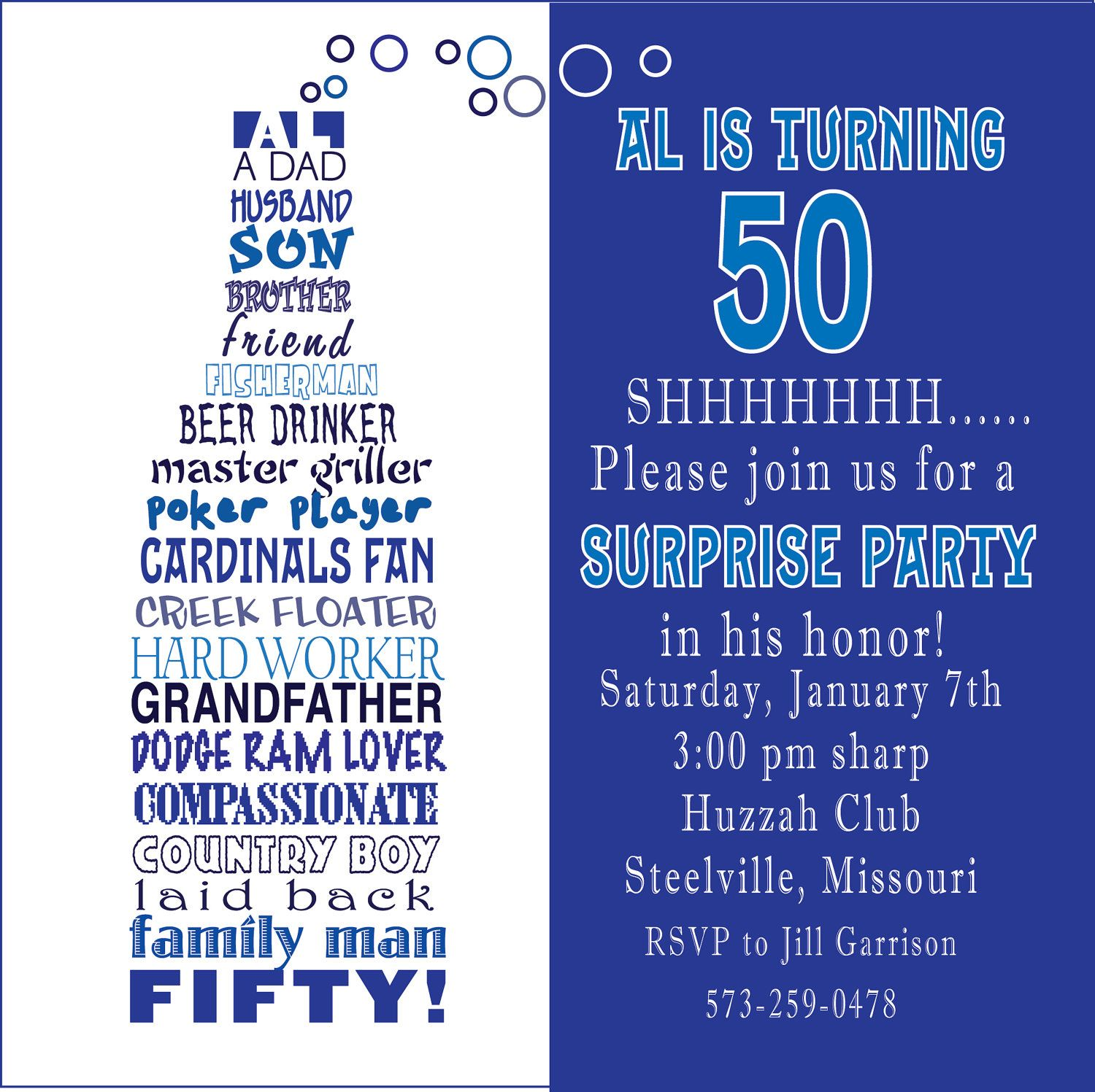50th birthday party invitation wording ideas ; 6296a287cf25737d7b09ae9390246b78