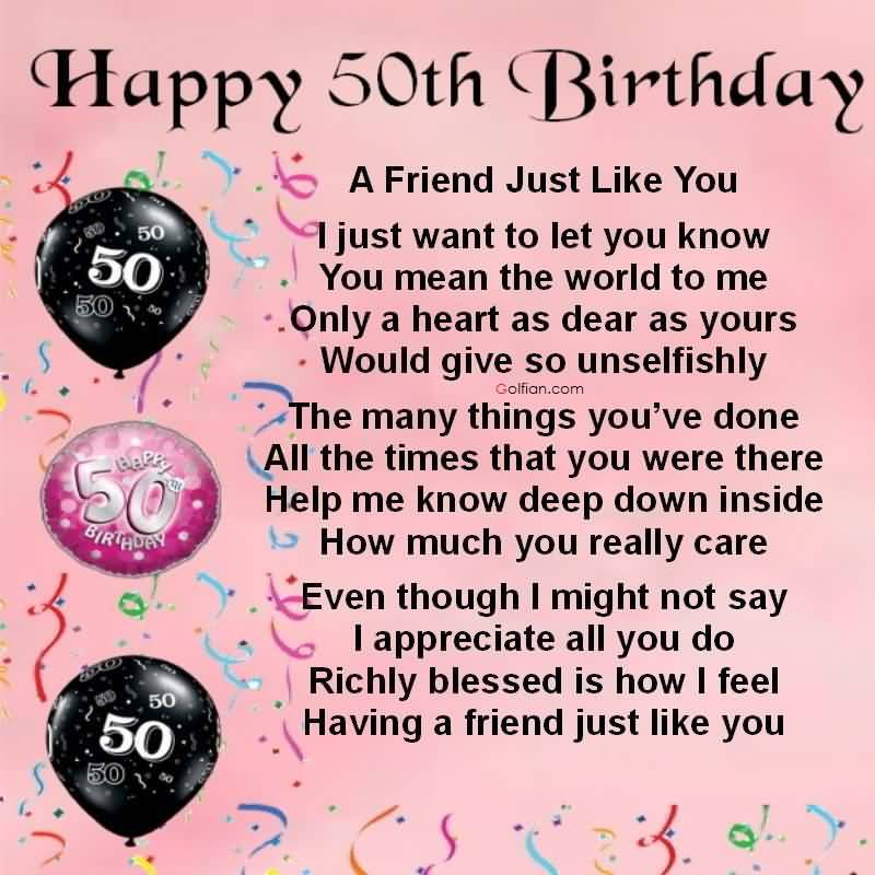 50th birthday poems for best friends ; Awesome-50th-Birthday-Wishes-For-Senior-E-Card
