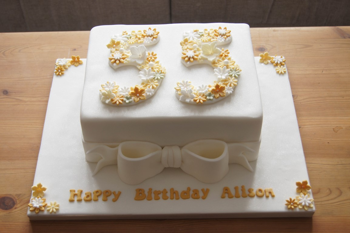 55th birthday cake photo ; floral-55th-birthday-cake-3
