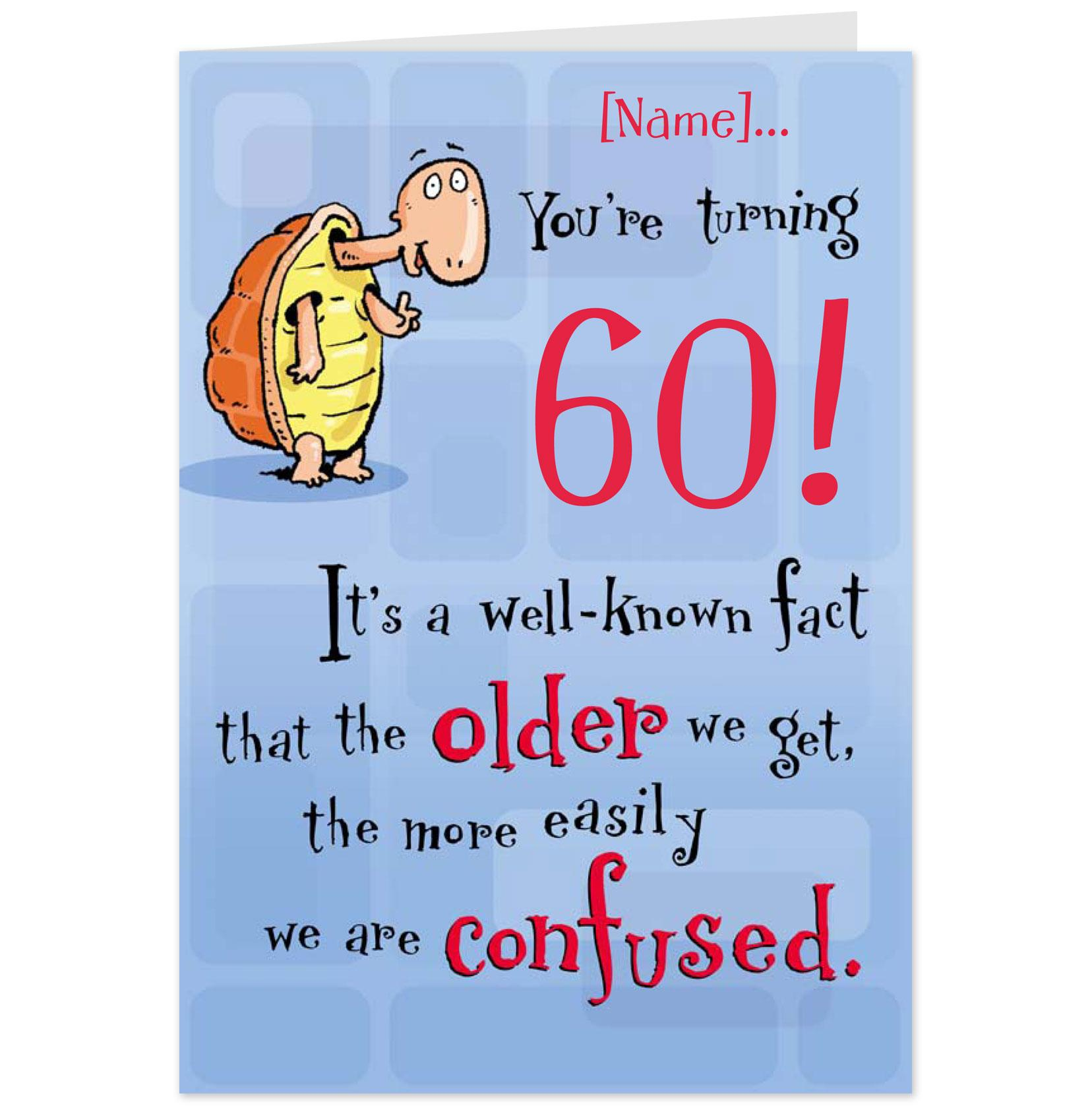60 Year Old Birthday Card Messages Funny Poems Dads 60th