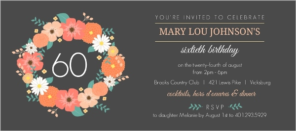 60th birthday invitation examples ; gray-floral-monogram-60th-birthday-invitaton_2863_1_large