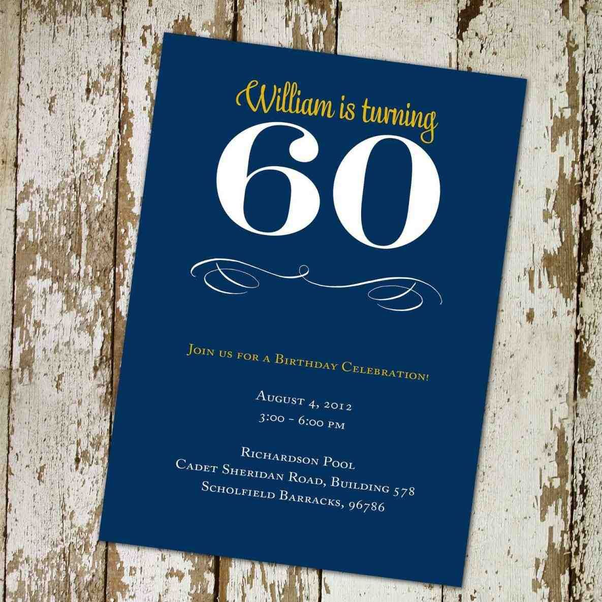 60th birthday surprise party invitation card ; 3362fdec8a7a5cf4812900880a35be9b