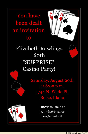 60th birthday surprise party invitation card ; casino-60th-surprise-party-invitation