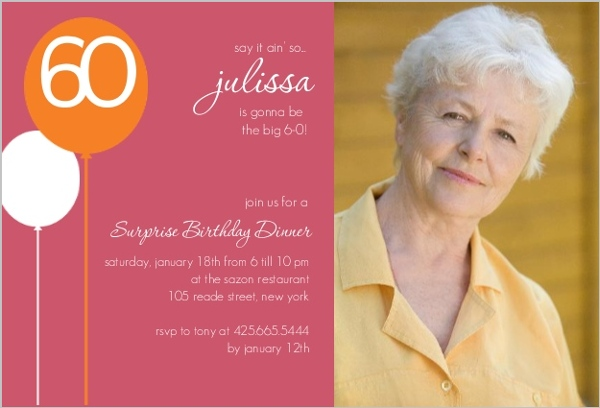 60th birthday surprise party invitation card ; dusty-rose-60th-birthday-surprise-party-invitation_2892_1_large