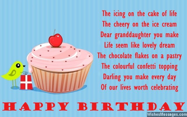 6th birthday card sayings ; Birthday-greeting-card-message-for-granddaughter