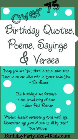 6th birthday card sayings ; birthday-quotes-poems-verses