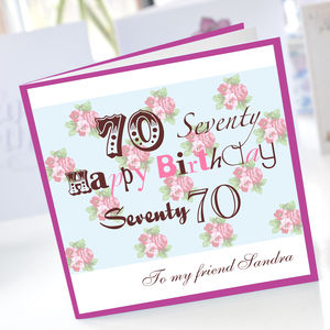 70th birthday cards ; preview_personalised-70th-birthday-card
