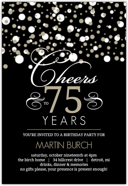 75th birthday invitation ideas ; white-and-taupe-elegant-confetti-75th-birthday-invitation_125420_1_large