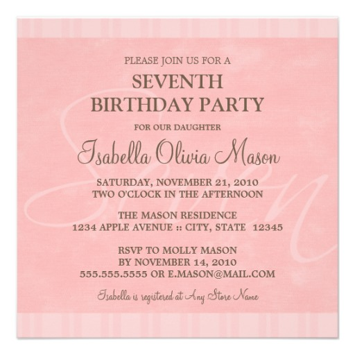 7th birthday invitation for girl ; Marvelous-7Th-Birthday-Invitation-Wording-Which-You-Need-To-Make-Birthday-Invitations