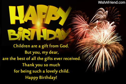 7th birthday message to a son ; 415-kids-birthday-wishes