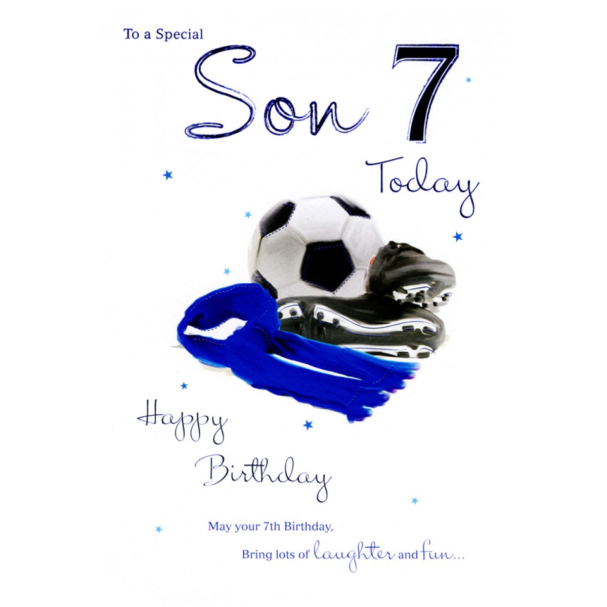 7th birthday message to a son ; 7812