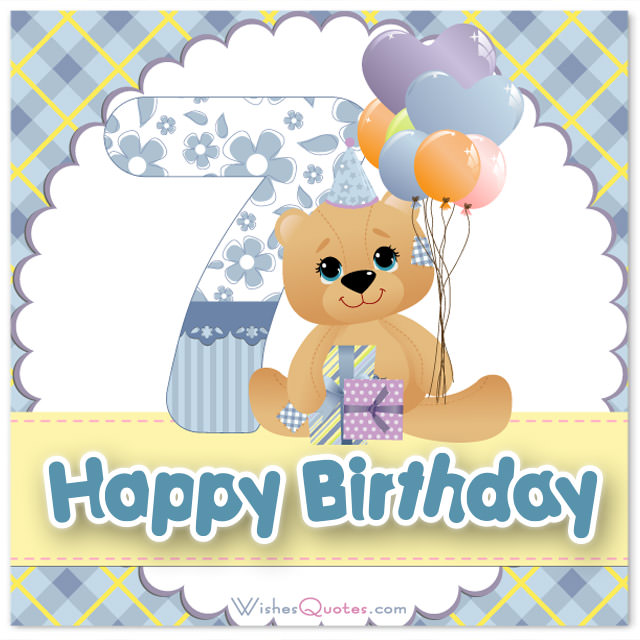 7th birthday message to a son ; Cute-7th-Birthday-Wishes-for-boys