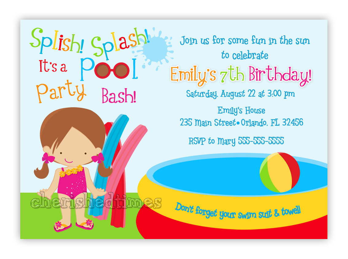7th birthday party invitation ideas ; party-invitations-kids-birthday-pool-party-invitation-idea-with-wording-beach-and-pool-invitations