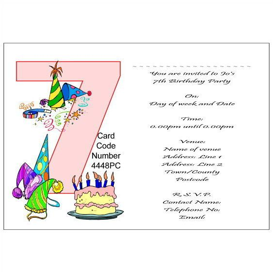7th birthday party invitation wording ; 7th-birthday-party-invitations-make-your-delightful-Party-invitations-much-more-awesome-18