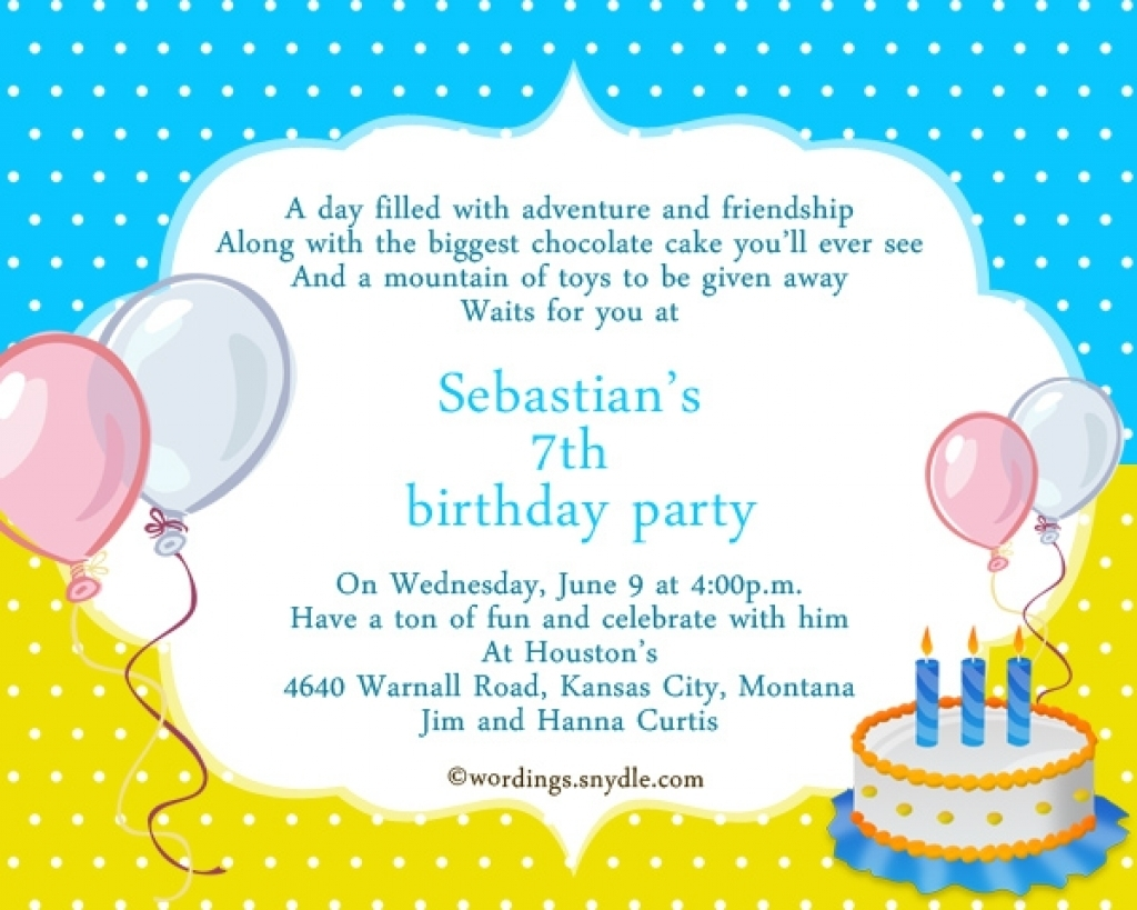 7th birthday party invitation wording ; first_birthday_invitation_wording_birthday_party_invitations_in_4