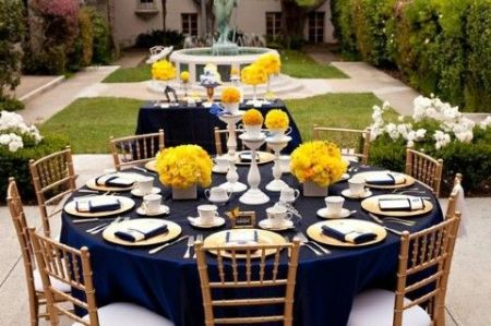 80th birthday theme color ; 80th-Birthday-Decorations-Table-Outdoors