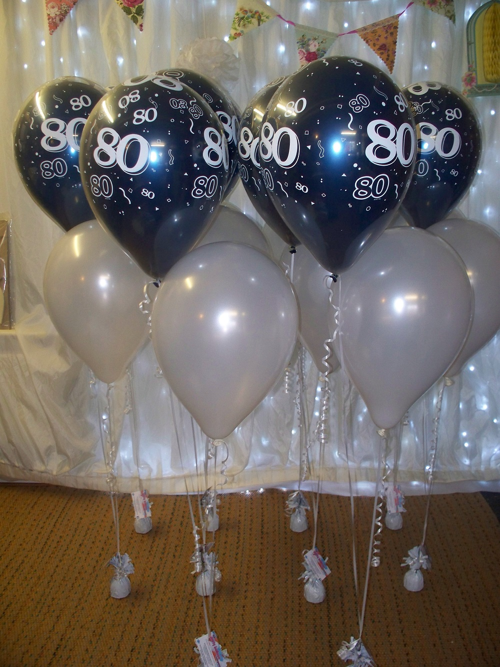 80th birthday theme color ; 80th-balloons-www