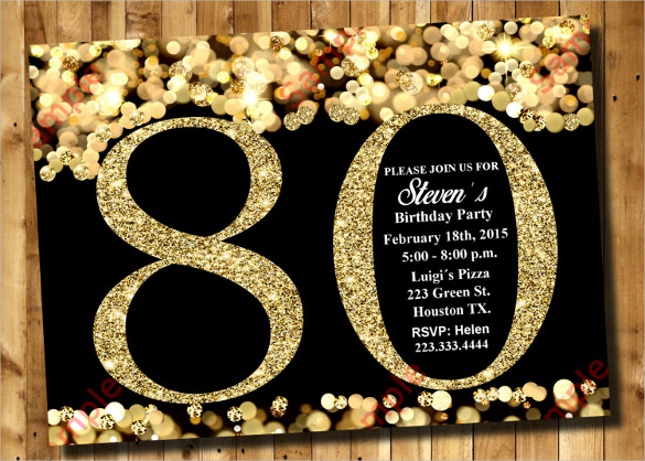 80th birthday theme color ; 80th-birthday-invitation-and-the-invitations-of-the-Bridal-Shower-Invitation-Templates-to-the-party-sketch-with-cool-idea-16