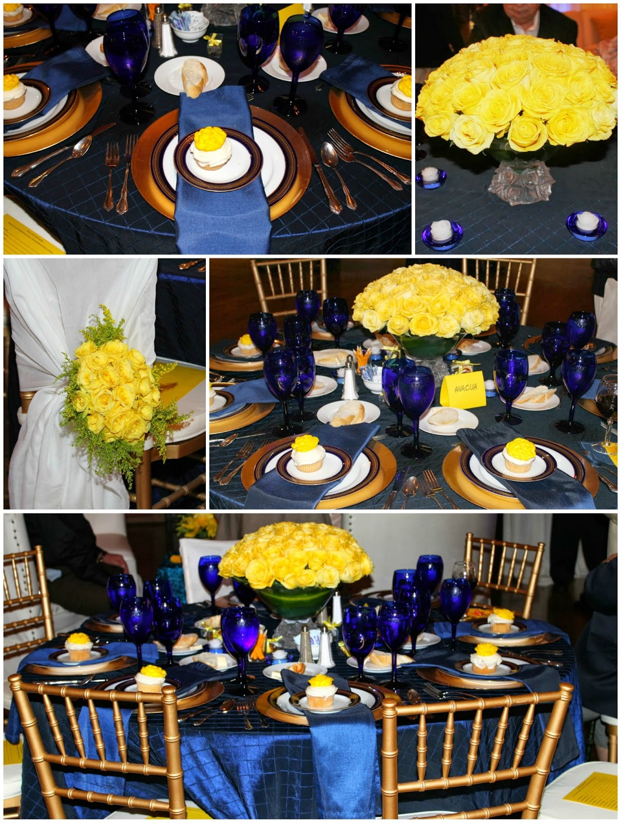 80th birthday theme color ; momptytablecollage
