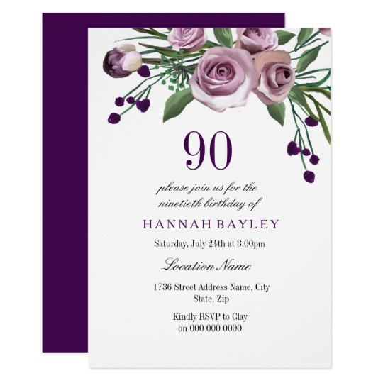 90th birthday invitations with photo ; Amusing-90Th-Birthday-Invitation-For-Additional-Birthday-Invitation-Cards
