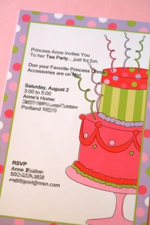 9th Birthday Invitation Wording Princess Party