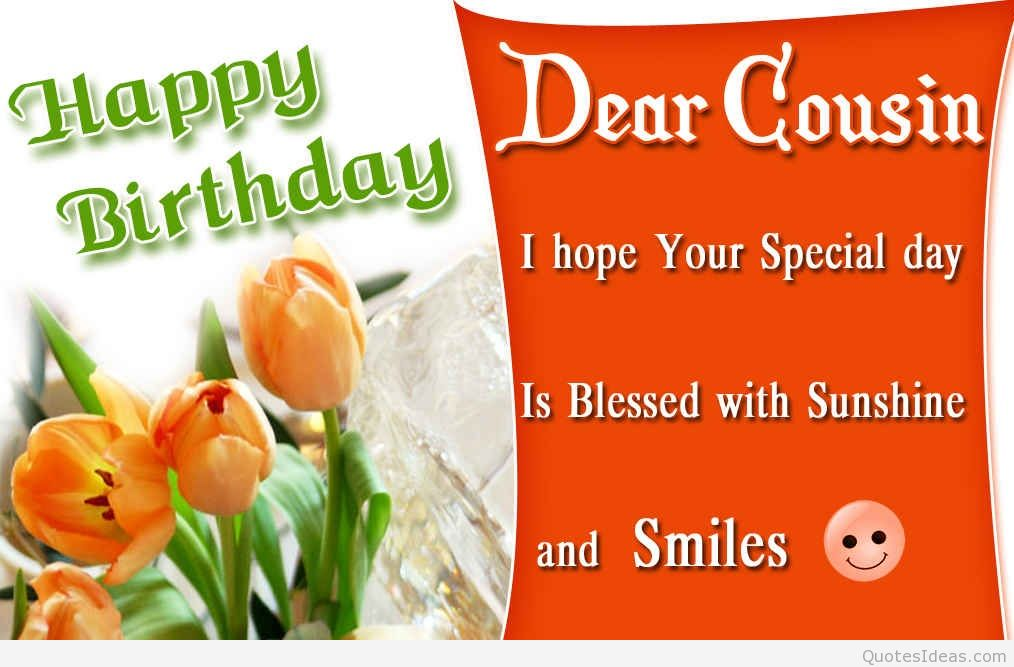 a birthday message for a cousin ; Dear-cousin-Happy-Birthday-message