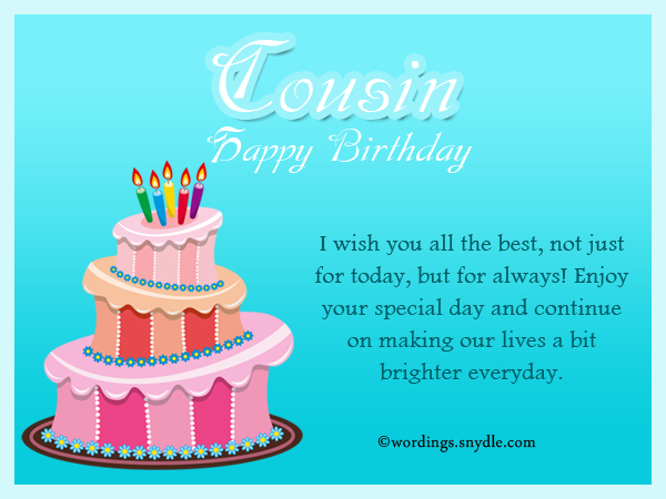 a birthday message for a cousin ; cousin-birthday-messages