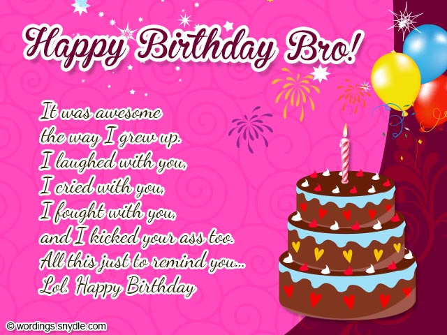 a birthday message to my brother ; birthday-messages-for-brother