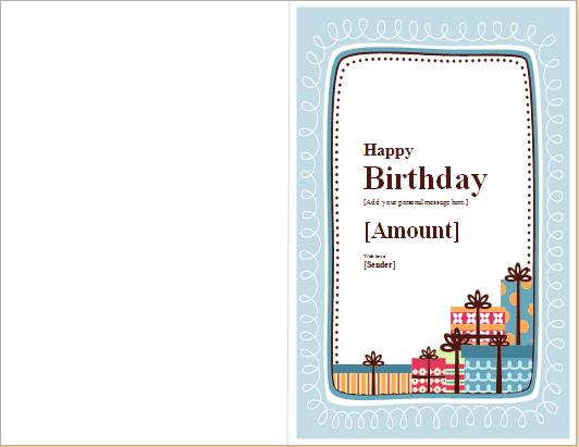 a birthday note ; Birthday-note-card