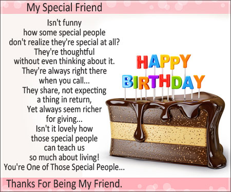 a birthday note ; a-birthday-note-my-special-friend