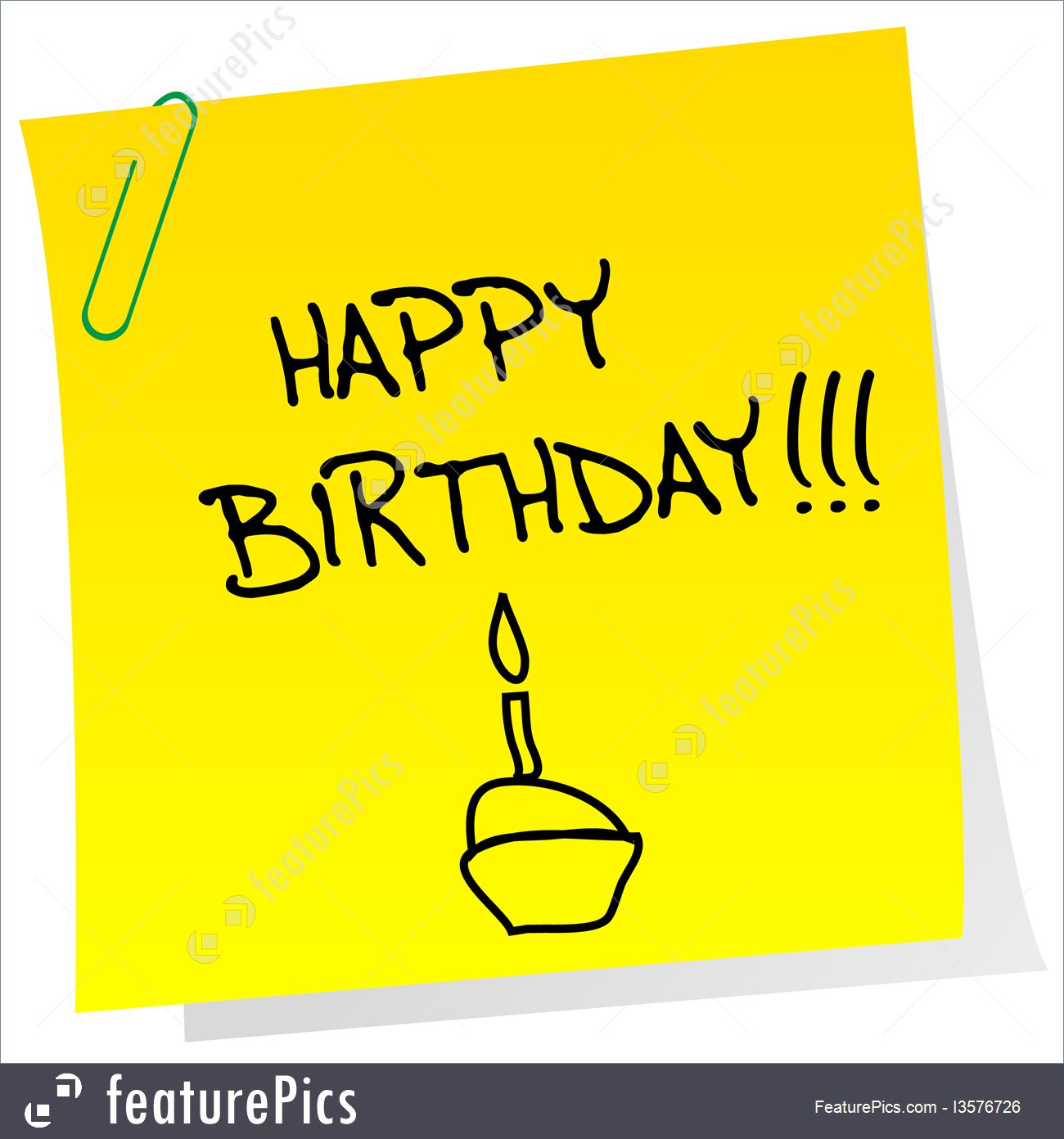 a birthday note ; happy-birthday-note-stock-illustration-2576726