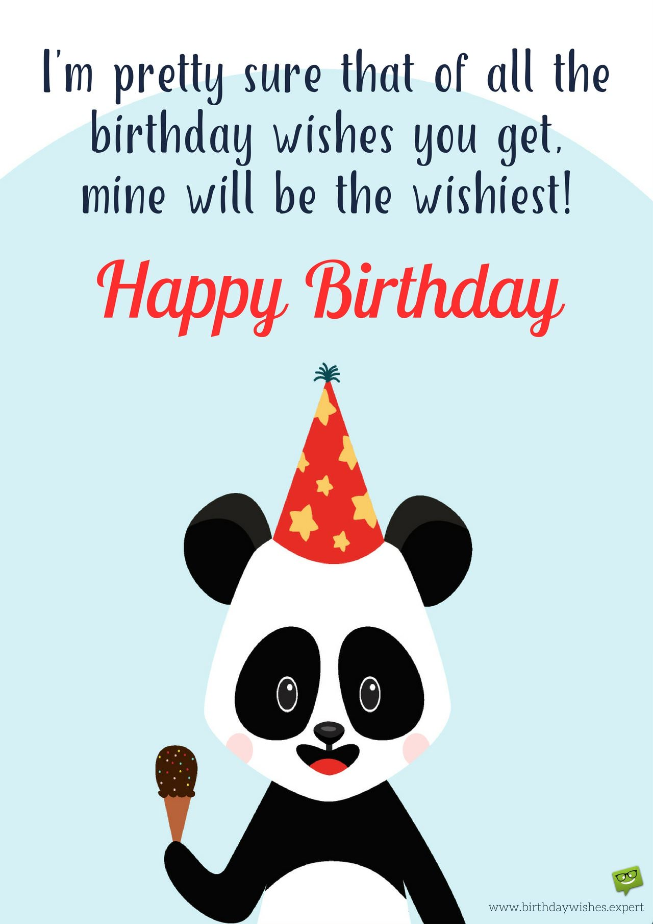 a funny birthday picture ; Funny-birthday-wish-on-image-of-a-cute-panda-animal