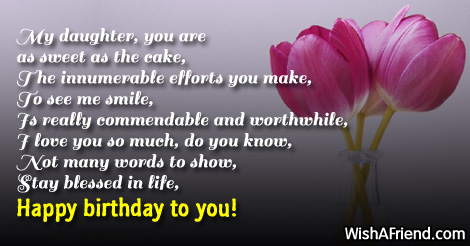 a mother's poem to her daughter on her birthday ; 9360-daughter-birthday-poems