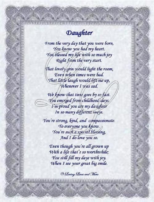 a mother's poem to her daughter on her birthday ; d894c95fa66db8092daa665d4ae169de
