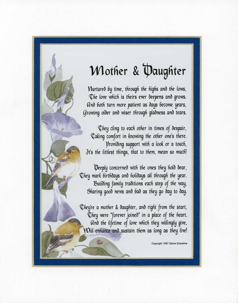 a mother's poem to her daughter on her birthday ; f8323d5f14a4c71c18071b205ac34be0
