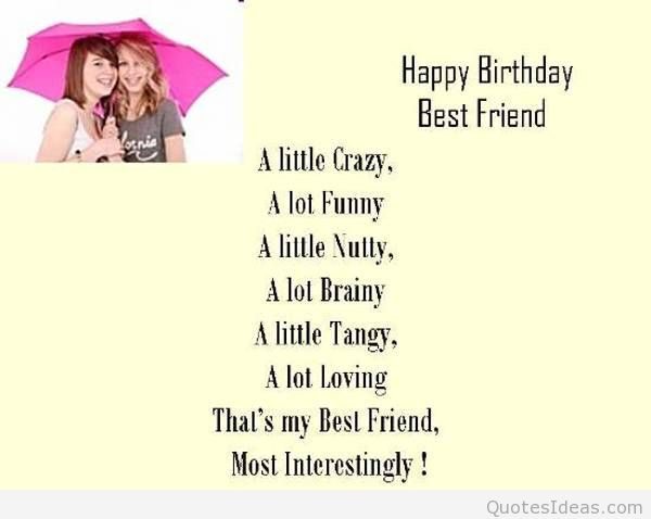 a picture saying happy birthday ; Happy-birthday-best-friend-saying-photo