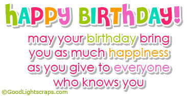 a picture saying happy birthday ; url
