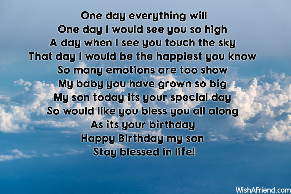 a poem for my son on his birthday ; 15598-son-birthday-poems