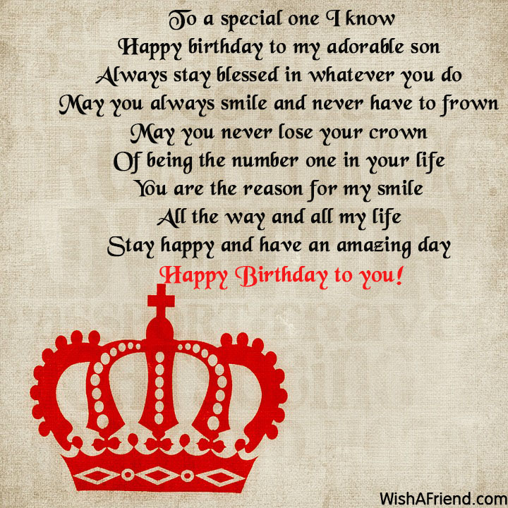 a poem for my son on his birthday ; 15607-son-birthday-poems