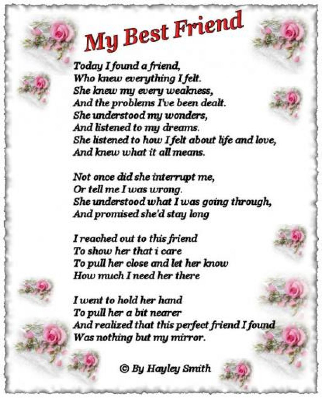 a poem to my best friend on her birthday ; my-best-friend-poems-54ae0e5e4d562